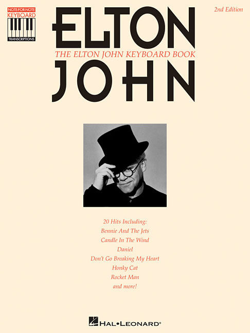 Elton John Keyboard Book By John, Elton